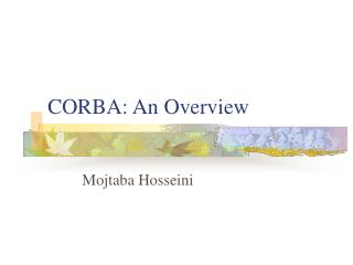 CORBA: An Overview
