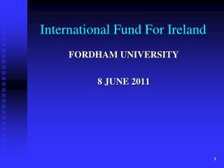 International Fund For Ireland