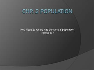 Chp . 2 Population
