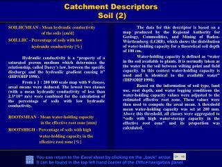 Catchment Descriptors   Soil (2)