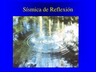 Sísmica de Reflexión