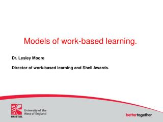 Models of work-based learning.