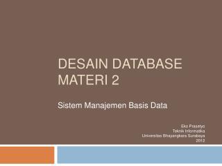 Desain  Database Materi  2