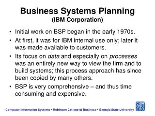 Business Systems Planning (IBM Corporation)