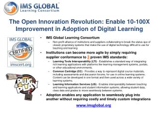 The Open Innovation Revolution: Enable 10-100X Improvement in Adoption of Digital Learning