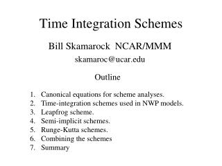 Time Integration Schemes