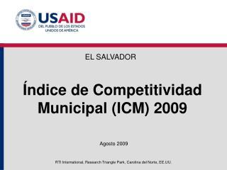 Índice de Competitividad Municipal (ICM) 2009
