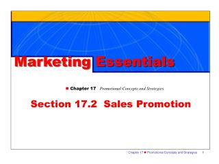 Section 17.2  Sales Promotion
