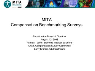 MITA   Compensation Benchmarking Surveys