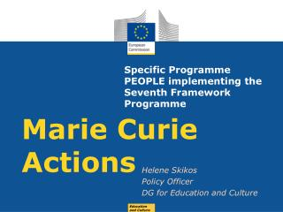 Specific Programme PEOPLE implementing the Seventh Framework Programme