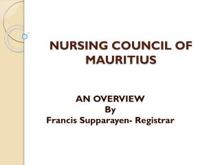 NURSING COUNCIL OF MAURITIUS