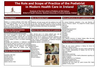 the role and scope of Practice of the Podiatrist