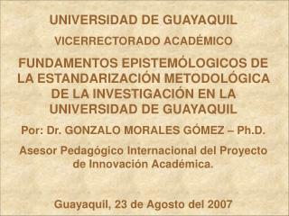 UNIVERSIDAD DE GUAYAQUIL VICERRECTORADO ACADÉMICO