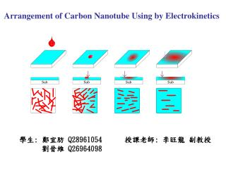 Arrangement of Carbon Nanotube Using by Electrokinetics