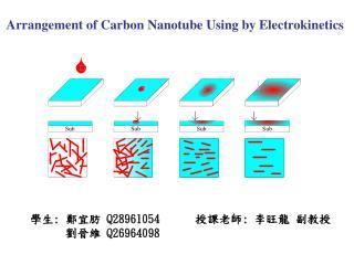 Arrangement of Carbon Nanotube Using by Electrokinetics