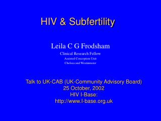 HIV & Subfertility