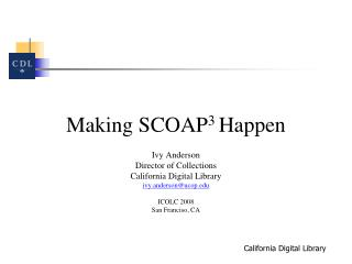 Making SCOAP 3  Happen