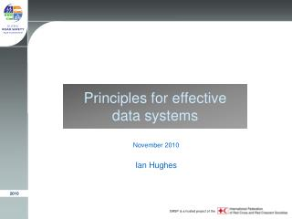 Principles for effective data systems