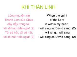 KHI THẦN LINH