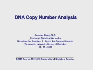 DNA Copy Number Analysis