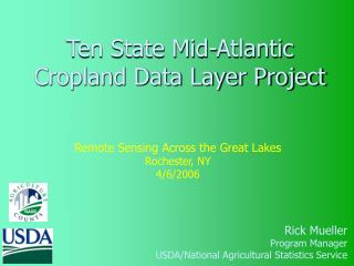Ten State Mid-Atlantic Cropland Data Layer Project