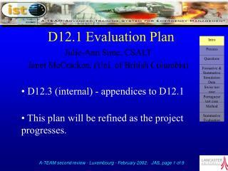 D12.1 Evaluation Plan
