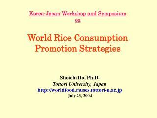 Korea-Japan Workshop and Symposium on