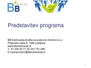 Predstavitev programa
