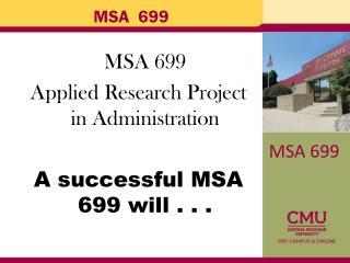 MSA  699