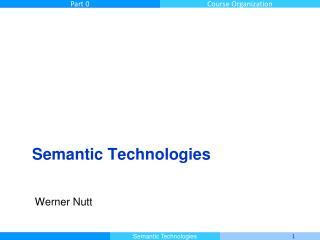 Semantic  Technologies