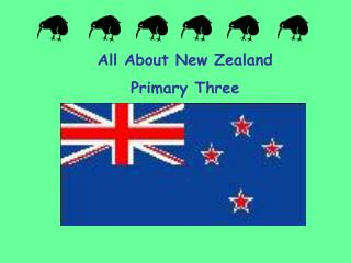 All About New Zealand Primary Three