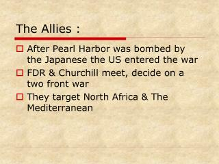 The Allies :