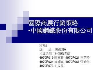 國際商展行銷策略 - 中國鋼鐵股份有限公司
