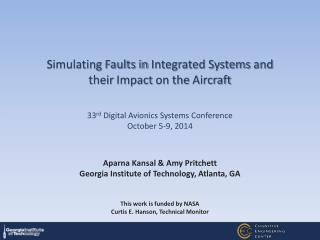 Simulating Faults in  Integrated Systems  and their  Impact  on the  Aircraft
