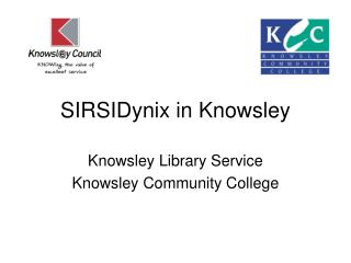 SIRSIDynix in Knowsley