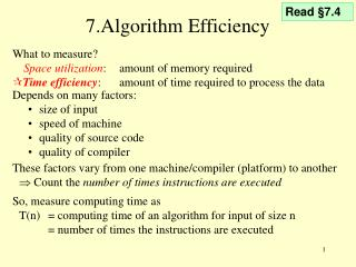 7.Algorithm Efficiency