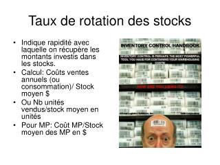 Taux de rotation des stocks