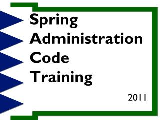 Spring Administration Code Training