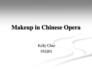 Makeup in Chinese Opera