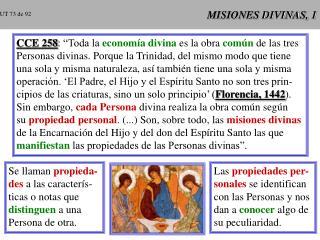 MISIONES DIVINAS, 1