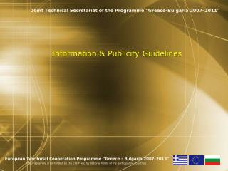 Information & Publicity Guidelines