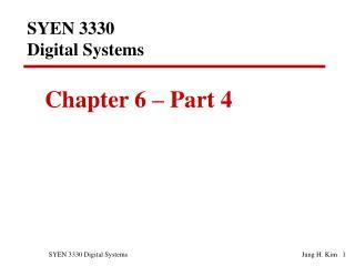 SYEN 3330  Digital Systems