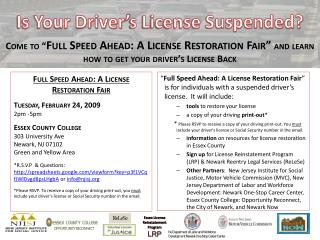 Is Your Driver�s License Suspended?