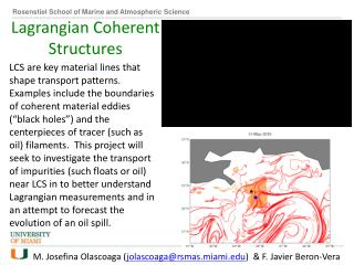 Lagrangian  Coherent Structures