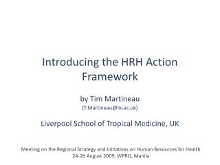 Introducing the HRH Action Framework