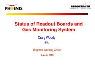 Status of Readout Boards and Gas Monitoring System