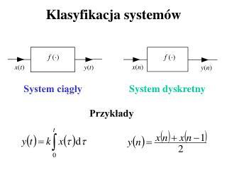 Klasyfikacja systemów