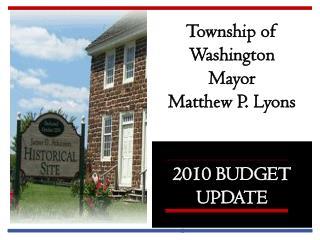 2010 BUDGET   UPDATE