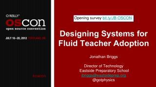Designing Systems for Fluid Teacher Adoption