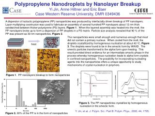 Polypropylene Nanodroplets by Nanolayer Breakup Yi Jin, Anne Hiltner and Eric Baer